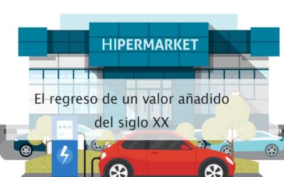 Cargadores de vehículos eléctricos como valor añadido para los Hipermercados.
